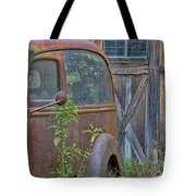 Rusty Vintage Ford Panel Truck Tote Bag