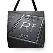 Rutherfordium Chemical Element Tote Bag