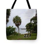 Ryckman Park In Melbourne Beach Florida Tote Bag by Allan  Hughes