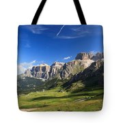 Saas Pordoi And Fassa Valley Tote Bag