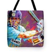 Sachin Tendulkar Tote Bag by Maria Arango