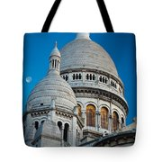 Sacre-coeur And Moon Tote Bag