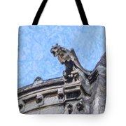 Sacre Coeur Gargoyle Tote Bag
