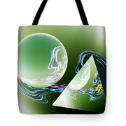 Sacred Geometry Digital Art Tote Bag by Georgeta  Blanaru