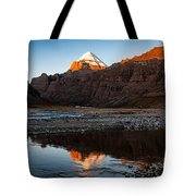 Sacred Mountain In Tibet - Mount Kailash Tote Bag