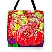 Sacred Roses Tote Bag