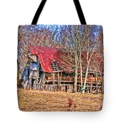 Sad Barn -  Featured In 'old Buildings And Ruins' Tote Bag