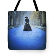 Sad Victorian Woman Alone In A Park At Dusk Tote Bag