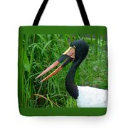 Saddle Billed Stork-00139 Tote Bag