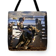 Saddle Bronc Riding Competition Tote Bag