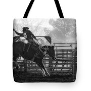Saddle Bronc Riding Tote Bag