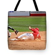 Safe At Second Tote Bag by Bob Hislop