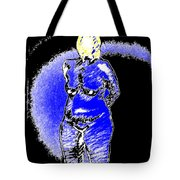 Safe Blue Woman Tote Bag