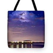 Safety Harbor Pier Illuminated Tote Bag
