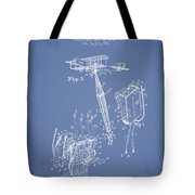 Safety Parachute Patent From 1919 - Light Blue Tote Bag