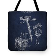Safety Parachute Patent From 1919 - Navy Blue Tote Bag
