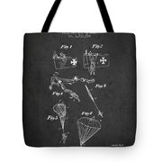 Safety Parachute Patent From 1925 - Charcoal Tote Bag