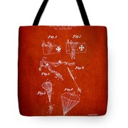 Safety Parachute Patent From 1925 - Red Tote Bag