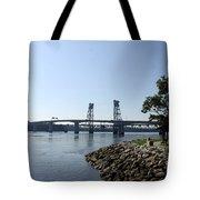 Sagadahoc Bridge Bath Maine Tote Bag