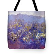 Sage Brush In Winter Light Tote Bag