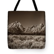 Sagebrush And Tetons Tote Bag