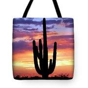 Saguaro At Sunset Tote Bag
