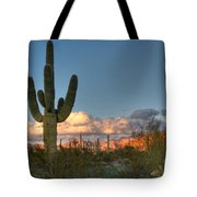 Saguaro At Sunset Tote Bag