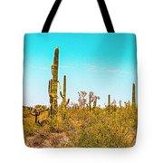 Saguaro Cactus In Organ Pipe Monument Tote Bag