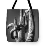 Saguaro Cactus Monochrome Tote Bag