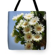 Saguaro In Bloom In The Superstition Mountains Tote Bag