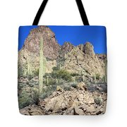Saguaro On The Apache Trail Tote Bag