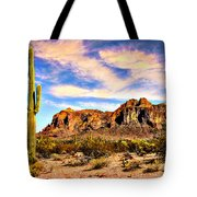 Saguaro Superstition Mountains Arizona Tote Bag