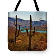 Saguaros In Arizona Tote Bag