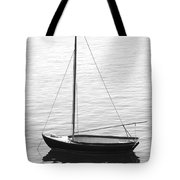 Sail Boat In Maine Tote Bag by Mike McGlothlen
