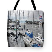 Sail Boats Docked For The Night Tote Bag