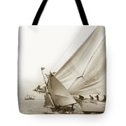 Sail Boats Little Anne And Virginia Collision On San Francisco Bay Circa 1886 Tote Bag