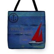 Sail Sail Sail Away - J173131140v02 Tote Bag by Variance Collections