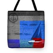 Sail Sail Sail Away - J179176137-01 Tote Bag by Variance Collections