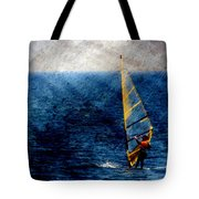 Sailboarding W Metal Tote Bag