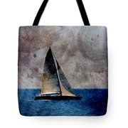 Sailboat Bird W Metal Tote Bag