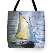 Sailboat Off Marthas Vineyard Massachusetts Tote Bag by Carol Leigh