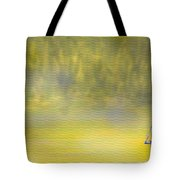 Sailboat On A Yellow Sea Tote Bag