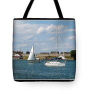Sailboat On Lake Ontario Near Old Fort Niagara 2 Tote Bag