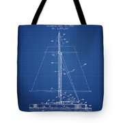 Sailboat Patent From 1932 - Blueprint Tote Bag