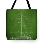 Sailboat Patent From 1932 - Green Tote Bag