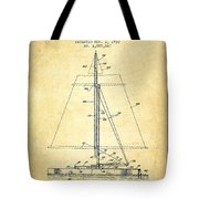 Sailboat Patent From 1932 - Vintage Tote Bag
