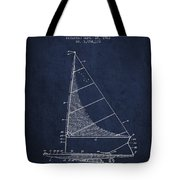 Sailboat Patent From 1962 - Navy Blue Tote Bag