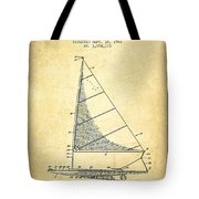 Sailboat Patent From 1962 - Vintage Tote Bag