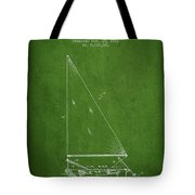 Sailboat Patent From 1991- Green Tote Bag