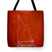 Sailboat Patent From 1991- Red Tote Bag